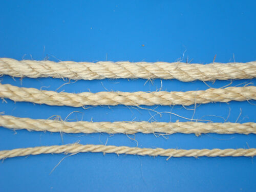 New Natural Sisal Rope Hemp Craft Twisted Twine Braided Rope Cat Scratching