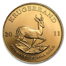 2011 1 oz Gold South African Krugerrand Coin - Brilliant Uncirculated -SKU#59153
