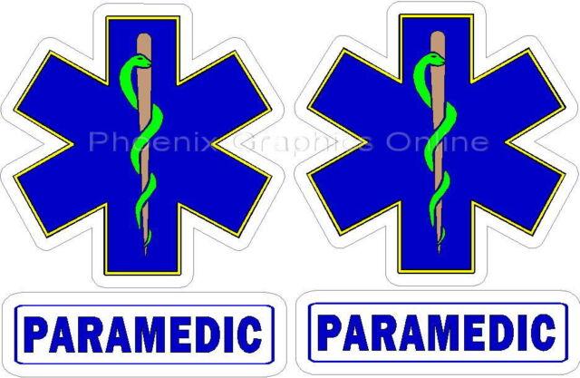 Paramedic Helmet Decal Set Reflective Fire Dept Rescue Firefighter Decal Sticker