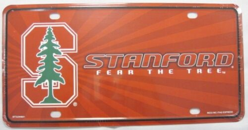 STANFORD UNIVERSITY METAL LICENSE PLATE FEAR THE TREE SIGN CARDINALS NEW L234