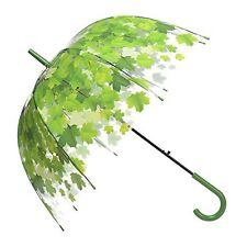 Remedios Automatic Open Transparent Clear Leaf Bubble Dome Rain Umbrella #53K