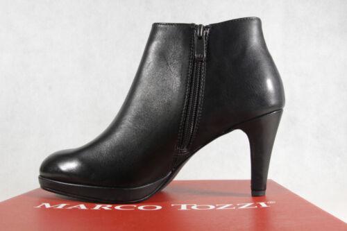 Marco Tozzi Stiefel Stiefelette Stiefeletten schwarz Leder 25392 NEU!