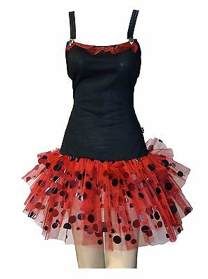 Lady Bird Tutu Fancy Dress black red alternative clothing emo cute gothic
