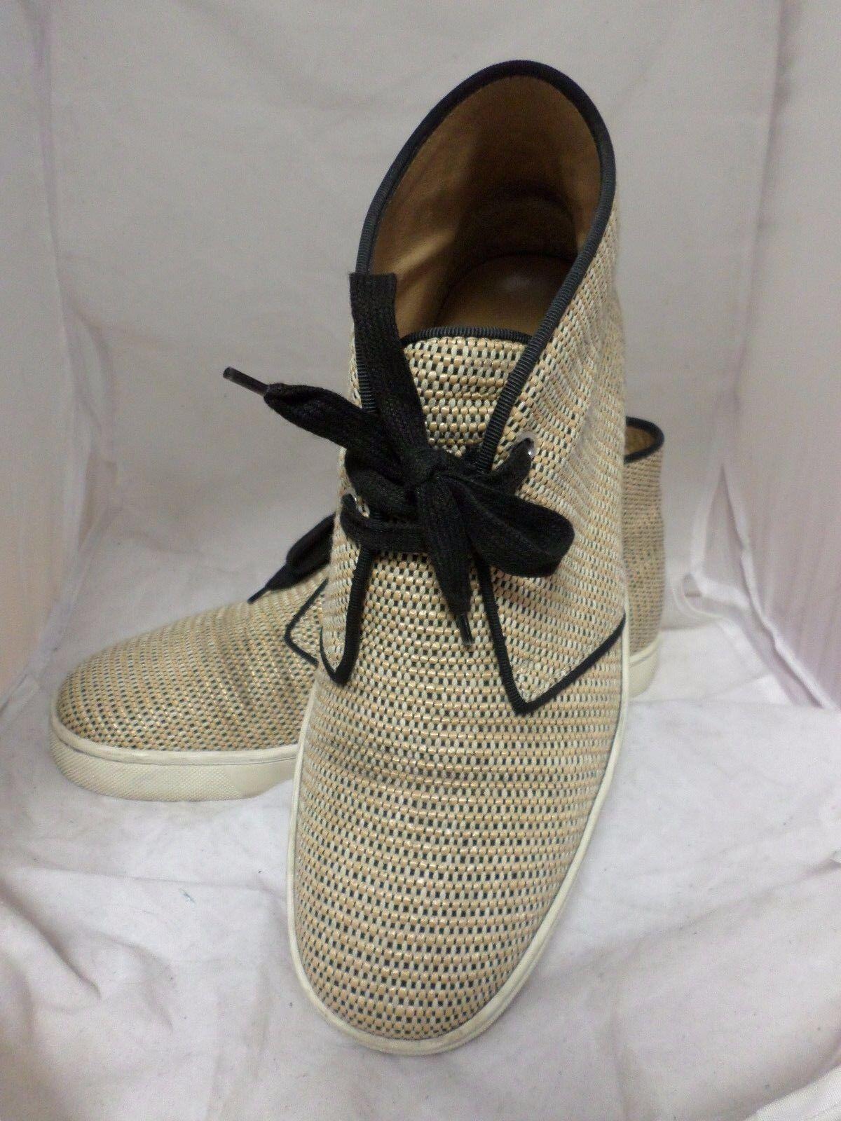 Christian Louboutin Tan Nono Coton Raphia Chaussures UK 7.5 EU 41.5 LN07 60 sales