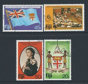 1980-FIJI-10th-ANNIVERSARY-OF-INDEPENDENCE-SET-OF-4-FINE-USED-CTO
