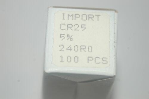 MEPCO 5043CX240R0J1ABFX CR25 240R0 5/% Axial Resistor New Lot Quantity-100