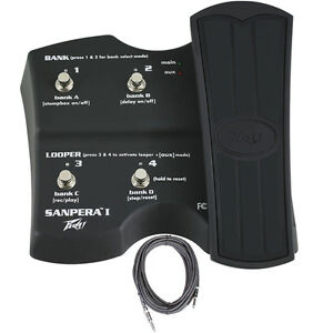 Peavey-Sanpera-I-1-4-Button-Vypyr-Amp-Foot-Controller-Footswitch-FREE-Cable
