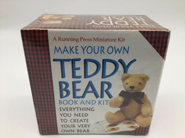 Vintage Make Your Own Teddy Bear Book And Kit A Running Press Miniature Kit NEW