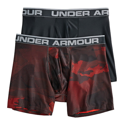 NWT Under Armour Men/'s 2-Pack Printed Camouflage Boxer Jock Red Black L 3XL
