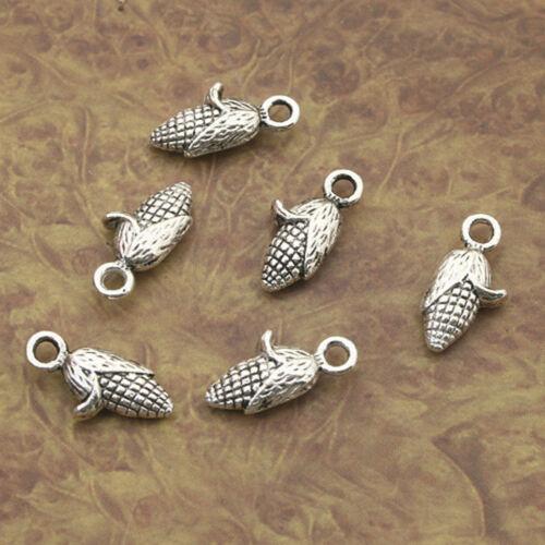 20pcs Tibetan Silver corn  charm pendants X0047