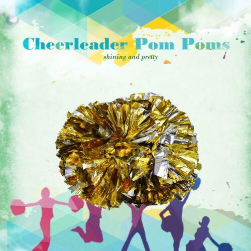 1 Pair Cheerleader Aerobics Pom Poms Pompoms for Sports Competition Plastic 29cm