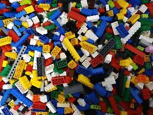 LEGO-300-Basic-Steine-Grundbausteine-NUR-HOHE-STEINE-gut-gemischt