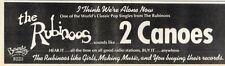 8/10/1977Pg37 Single Advert 3x10 The Rubinoos, 2 Canoes
