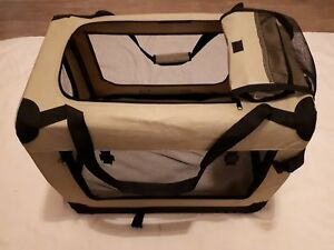 Premium-Hundetransportbox-Katzen-Hunde-Box-Kaefig-Reisebox-70x52x52cm-L-faltbar