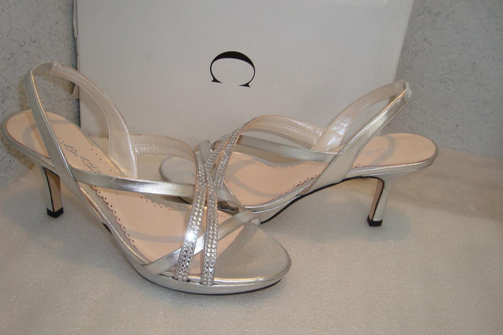 Caparros para mujer Nuevo con Caja Yara Plata Plata Plata Metálico Sandalias Zapatos 6 MED Nuevo  ventas calientes