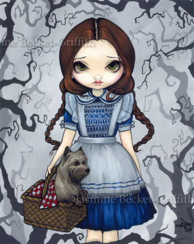 Jasmine Becket-Griffith art print SIGNED Dorothy and Toto wizard of oz terrier
