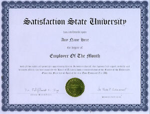 image is loading employee of the month novelty diploma award gift - Employee Of The Month Award