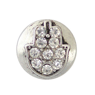 1 PC 12MM Brown Rhinestone Silver Charm for Candy Snap Jewelry KB3225 CC0535