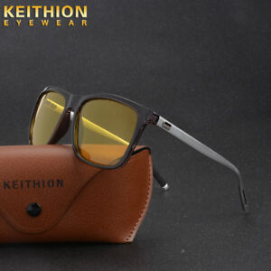 New-Mens-Womens-Polarized-Sunglasses-Night-Vision-Driving-Mirror-Metal-Glasses