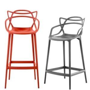 kartell masters stool barhocker sitzh he 65 cm kunststoff neu ovp ebay