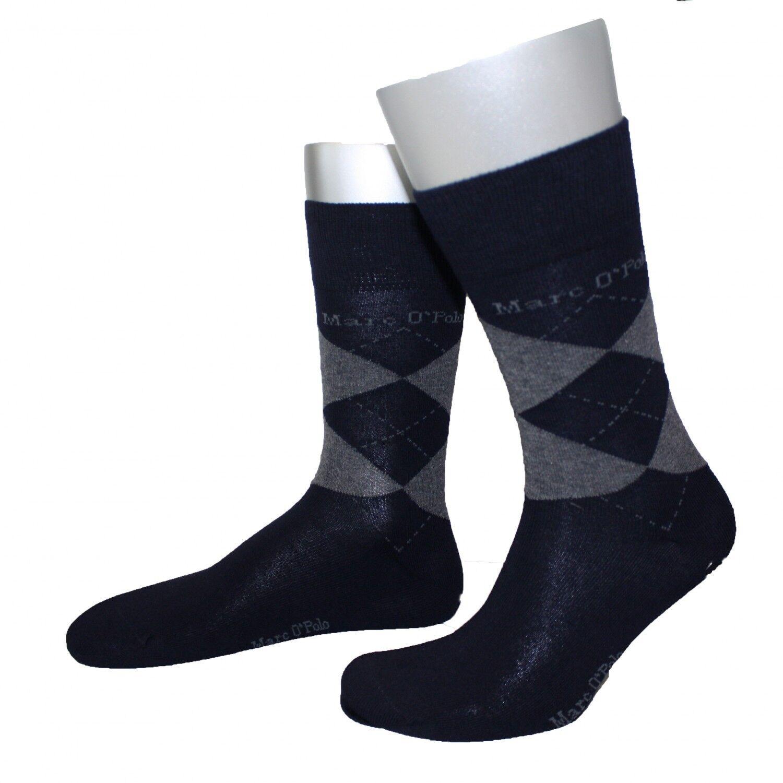 2 Paar Marc o`Polo Socken Strümpfe Herren marine blau grau Fashion Socks NEU