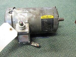 Baldor AC Motor M1705T 1.5-0.75HP 1725/850RPM 460V 2.1/2.2A 60Hz 3Ph Used 781568115763