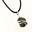 Black-Tourmaline-Artisan-Pendant-Necklace-Small-15mm-PBS-Leather-FREE-GIFT-BOX
