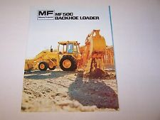MASSEY FERGUSON MF 50C BACKHOE LOADER TRACTOR ORIGINAL COLOR SALES BROCHURE