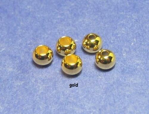 100 fly tying brass beads/>GOLD/>100 beads/>6 sizes available/>COMBINE SHIPPING