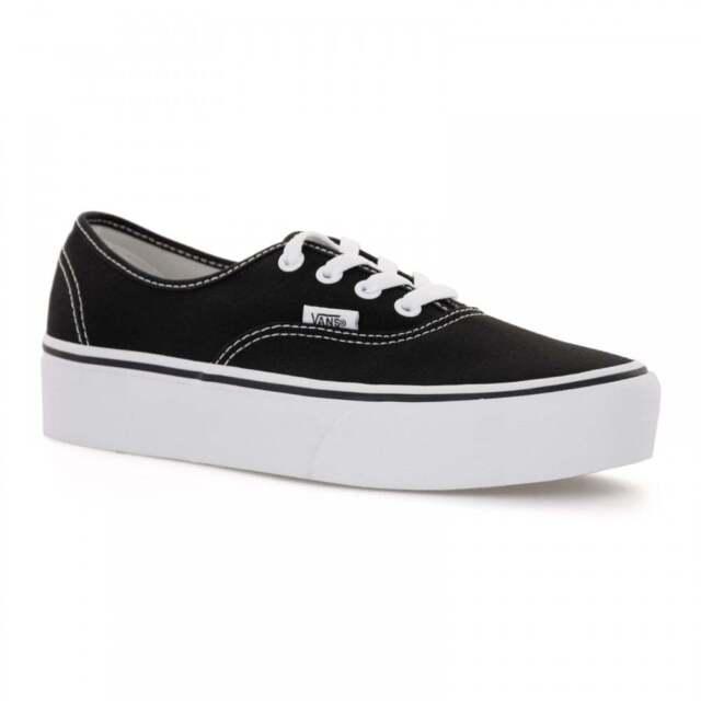 a4e7796739 VANS Authentic Platform Sneaker Skate Shoes Classic Black EUR 40 5 ...