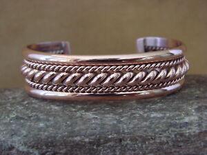 Navajo-Native-American-Jewelry-Handmade-Copper-Bracelet-Elaine-Tahe