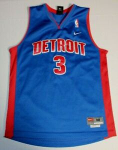 Details about NBA Basketball Detroit Pistons Ben Wallace #3 Sewn Jersey Youth Medium Nike