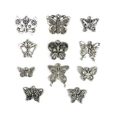Prettyia 150 PCS Small Butterflies Shaped Decorative Stickers Self Adhesive