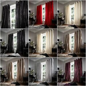 Image Is Loading Heywood Luxury Shiny Curtains Ring Top Eyelet Black