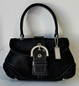 95203f18f515 Image is loading coach black madison crystal bling mini top handle jpg  275x300 Coach black madison
