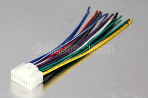alpine amps wiring harness alpine 16-pin car stereo radio wiring wire harness lead | ebay