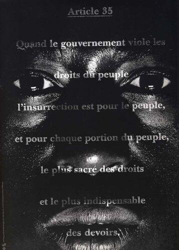 1989 M et CO Affiche originale-Bicentenaire de la Révolution Française