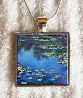Pendentif Collier Claude Monet Les Nympheas Pendaglio Ciondolo Collar Bijoux 1