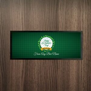 Personalised-Happy-St-Patrick-039-s-Day-Tartan-Luck-Of-The-Irish-Design-Bar-Runner