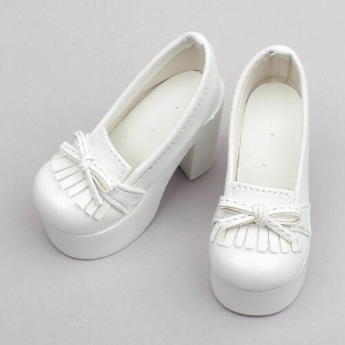 1//3 White SD DZ AOD BJD Dollfie High Heel Synthetic Leather Shoes PF