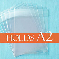 """100 Clear Cello Bags, 4 5/8 x 5 3/4"""" inch for A2 Card + Envelope, LIP Adhesive"""