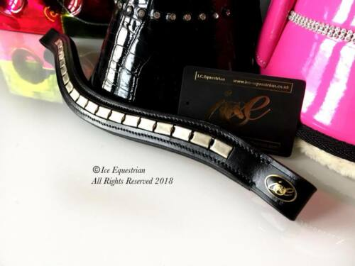 Browband Padded Leather Equestrian New design