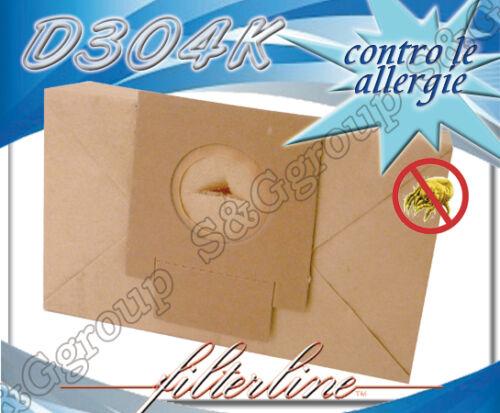 D304K 8 sacchetti filtro carta naturale per De Longhi Prima XTS 125E