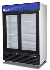 Migali C-49RS Commercial Double Slide Glass Door Merchandiser Refrigerator