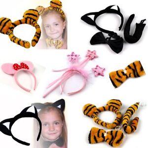 Fasching Karneval Kostum Haarreif Ohren Fliege Set Katze Maus Tiere