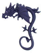Punk style black 3D dragon / dinosaur ear cuff clip stud wrap earring