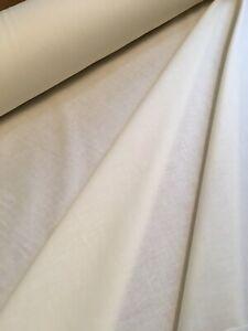 Per Metre Ivory Polycotton Twill Curtain Lining Fabric
