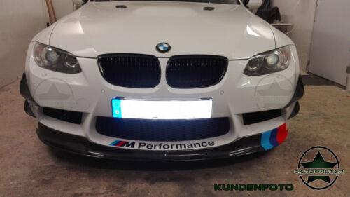 Cstar Carbon Gfk Splitter Canards Wings Frontlippe pasend für BMW E90 E92 E93 M3