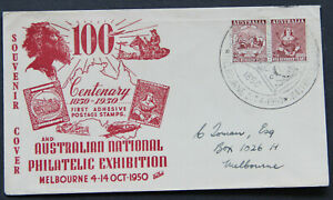 ANPEX-1950-stamp-centenary-souvenir-cover-pictorial-cachet-FDC-postmark