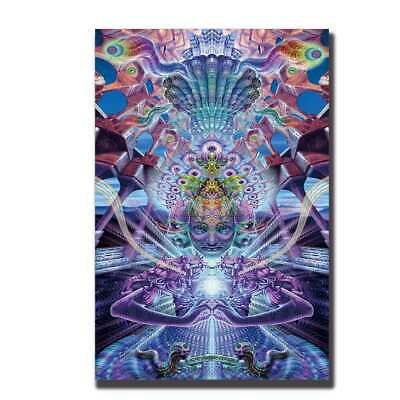 Psychedelic Trippy Abstract Art Silk Poster room decor print 12x18 24x36 A317